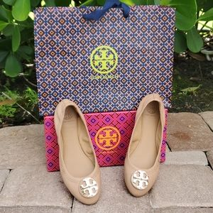 Tory Burch Claire 2 Ballet Nellie Nappa Sand
